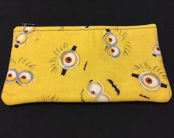 Minions Pencil Case / Zipper Pouch, Coin Purse, or Wristlet #188