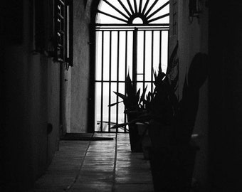 Old San Juan Photo; Puerto Rico Photography; Black & White Puerto Rico