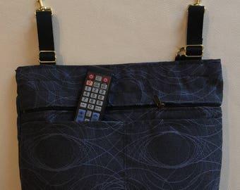 Walker Bag ... Tapestry ... secure zipper pocket, slot pockets & adjustable straps