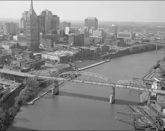 Poster, Many Sizes Available; Aerial View Of Shelby Street Bridge 01