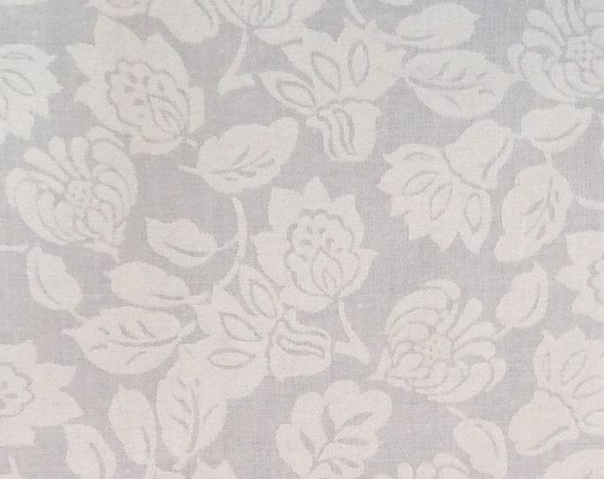 White on White Flower Stock tie