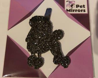 Glitter acrylic Poodle Style 1 Christmas decoration - 9 colour choices