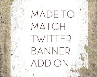 Custom Twitter Cover, Social Media Banner Set Add on