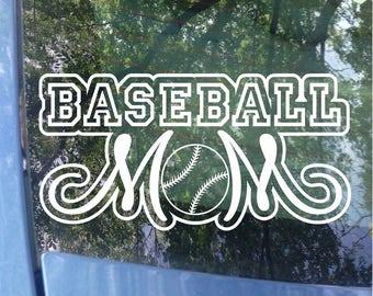 Baseball Mom Decal - Sports Mom - Baseball Decal - Baseball Mom Window Decal - Baseball Mom Car Decal - Sports Mom Decal - Sports Decal