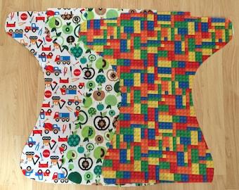 Set of 3 Diaper Cuts-Boys- PUL Fabric- Diaper Making Fabric
