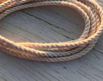 4MM Natural White Cotton Twisted Cord Rope Craft Jewelry Beading Macrame Artisan String