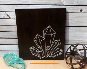 Faceted Crystal String Art Tablet