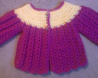 Baby Crochet Cardigan. 0-3