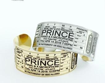 Prince Concert Ticket Bracelet, Prince at Fox Theatre, Concert Ticket Bracelet, Prince Concert Ticket, Prince Memorabilia, Prince