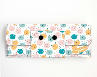 Vinyl Long Wallet - Monster Mash / vegan, pretty, large wallet, clutch, card case, vinyl wallet, big, monsters. adorable, kids