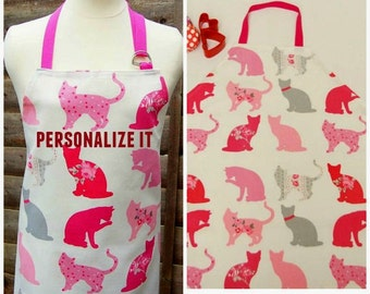 Mummy & Me Apron Set, Apron Set Adult Child, CATS Apron Set, Baking set Adult Child, Chef Set, Child and Parent Apron Set, Full Apron