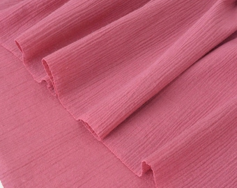 Fabric crepe cotton extra soft old pink x 50cm