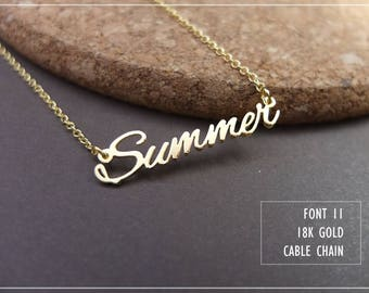 Personalized Name Necklace-Custom Name Necklace-Custom Name Gift-Your Name Necklace-Bridesmaids Jewelry-Children Names-Gift for mom. #NF11