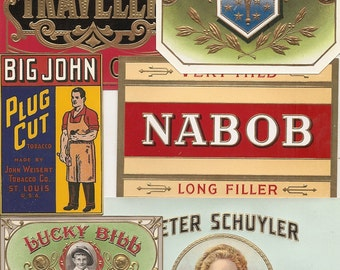 45 different 1930s plus TOBACCO and CIGAR LABELS  Due to the continuing Ofac sanctions against Cuba origin of labels from u.s.