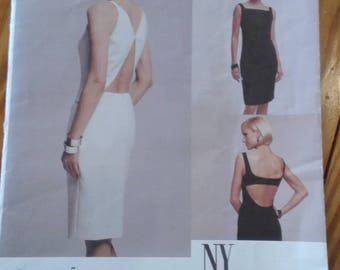 2002 NY NY collection sewing pattern by vogue dress