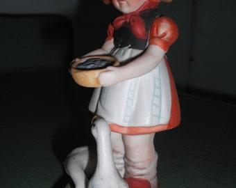 Goose Girl figurine, 1970s,