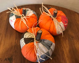 Pumpkin made from Vintage Cutter Quilt Top