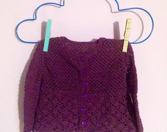 Baby Girl Cardigan, Crocheted Baby Sweater, Baby Girl Pink, Baby Shower Gift, Cardigan Baby, Baby Girl Clothing, Baby Crochet Clothing