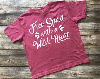 Kids Shirt, Free Spirit Shirt, Kids Tee, Toddler Graphic Tee, Boy Shirt, Girl Shirt, Trendy Boy Shirt, Trendy Girl Shirt, Infant Shirt,