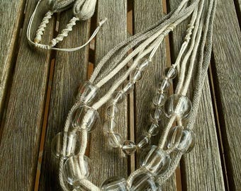 LARGE clear BEAD necklace