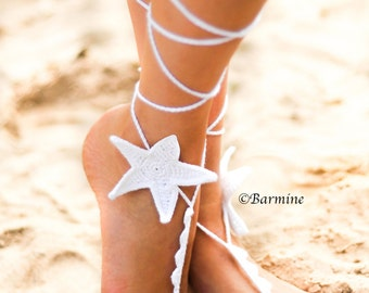 Starfish Barefoot sandals, Beach wedding barefoot sandals, Starsfish foot jewelry, Beach wedding starfish accessory, Barefoot sandles, Shoes