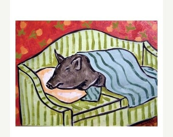 25% off Pig Sleeping on a Couch Art Print