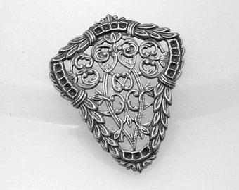 1pcs--Metal Stamping, Antique Silver (B19-7)