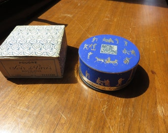 Vintage Soir De Paris Poudre Bourjois Powder Box Unused in Box Persane