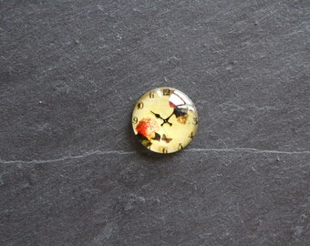 "Cabochon 20 mm ""vintage Style"" clock"