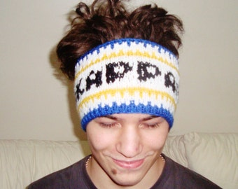 Personalized graduation gifts headband head band hand knit knitted