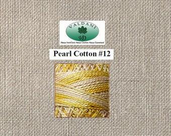 Valdani Pearl 12 - M67 Blurry Vanilla - Shades of Soft Yellows Cream - 100 Meter Ball
