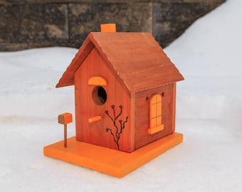 Basic Orange and Coper Birdhouse