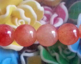 1 bead 8 mm diameter mashan jade, hole 1 mm