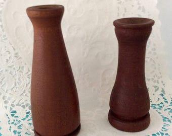 Candleholders - Dansk Designs - Danish Wood candlesticks - Vintage hardwood - mid century - collectible - Danish Modern decor -Retro