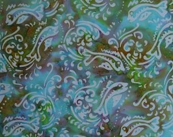 Batiks by Mirah - Batik - Ocean Splurge  - Fish - OS-5 6145