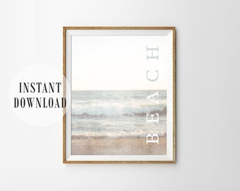 Ocean Surf PRINTABLE Wall Art - Beach - Minimalist - Modern Apartment Decor - Digital Art - Waves - Gallery Wall - Poster - SKU:1947