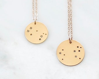 Constellation Necklace • Zodiac Necklace • Gold Zodiac Necklace • Constellation Gold Filled • Zodiac Sign Necklace • Astrology Necklace