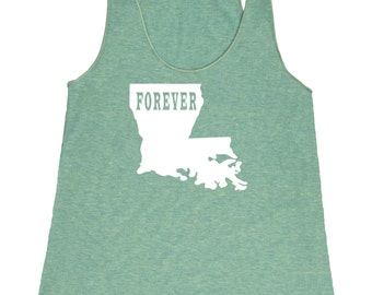 Louisiana Forever Tank Top. Women's Tri Blend Racerback Tank Top SEEMBO