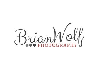 Premade Logo Design Photography Logo Watermark Photoshop Editable File. Custom Logo Digital Logo Buisiness Logo Minimal PSD Template