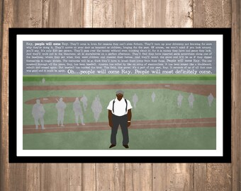 """INSTANT DOWNLOAD - Field of Dreams """"People Will Come"""" Print"""