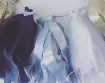 Tissue tassel garland/ party garland/ party decor