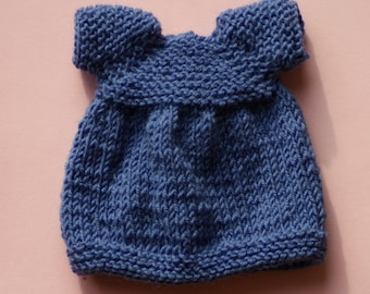 """knitted dress for 12"""" dolls"""