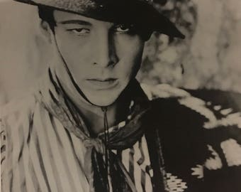 Wall Art, Vintage Movie Poster, Rudolph Valentino, A Sainted Devil, black and white rare poster 24 x 34