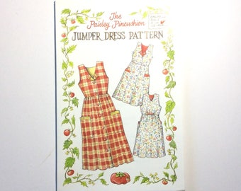 "The Paisley Pincushion Women's Jumper Dress Pattern, Size Sm-Med (Bust 31""-38"") Vintage Uncut Pattern"