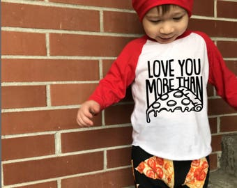 Pizza Shirt, Baby Pizza Shirt, Toddler Pizza Shirt, Kids Pizza Shirt, Love You More Than Pizza, Pizza Outfit, Pizza Pants, Toddler Gift