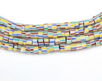 ANTIKES gezeichneten Murano Glasperlen 6mm (STRAND)