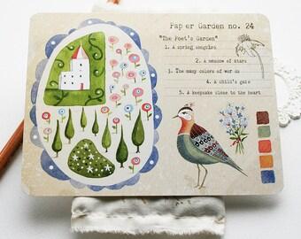 The Poet's Garden - Postcard Set