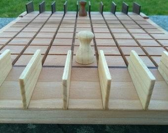 Wooden strategy game. Quoridor, Corridor, Blockade