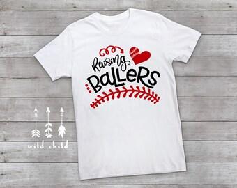 Raising Ballers Shirt, Baseball Mom Shirt, Baseball T-Shirt, Baseball Mom Tee, Raising Ballers, Baseball Shirt, Mom Baseball Shirt