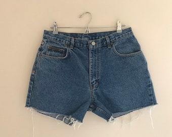 """Calvin Klein Denim Cutoff Shorts Waist 32"""""""